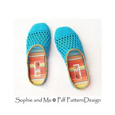 Basic crochet slippers with handmade, fabric-covered insoles!