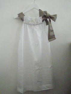 Molde y tutorial. Little Dresses, Flower Girl Dresses, Creation Couture, Diy Fashion, Fashion Tips, Fabric Crafts, White Dress, Summer Dresses, Wedding Dresses