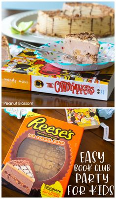 Get your kids reading this summer by hosting a children's book club! The easiest book club party includes a delicious Reese's Ice Cream Cake and a copy of The Candymakers by Wendy Mass. Such a fun summer activity for the kids! Book Club Parties, Kids Book Club, Best Books List, Book Lists, Easy Meals For Kids, Kids Meals, Reese's Ice Cream Cake, Peanut Blossoms, Easy Party Food