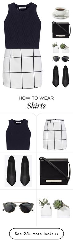 """I can't turn away"" by intanology on Polyvore featuring Elizabeth and James, Yves Saint Laurent, The Row, Chicnova Fashion, blackandwhite, Minimalist, minimalism and cheys80kgiveaway"