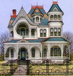 Coolest Victorian House Colors Ideas, Choosing for Your Home or Office - Architecture Victorian Architecture, Beautiful Architecture, Beautiful Buildings, Beautiful Homes, House Beautiful, Russian Architecture, House Architecture, Victorian Style Homes, Victorian Homes Exterior