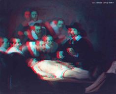 ♥ 1632 Rembrandt van Rijn The Anatomy Lesson of Dr. 3d Pictures, 3d Glasses, 3d Photo, Pre Raphaelite, Art For Art Sake, Rembrandt, Optical Illusions, Art Music, Shadows