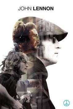 John Lennon - Double Exposure - Official Poster. Official Merchandise. Size: 61cm x 91.5cm. FREE SHIPPING