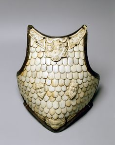 Cuirass breastplate Italy Late 16th century Steel, bone, wrought and carved h 42 cm © State Hermitage Museum, St Petersburg