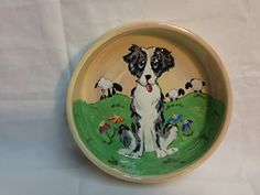 Australian Shepherd 10 Dog Bowl for Food or Water Personalized at no Charge Signed by Artist Debby Carman *** Learn more by visiting the image link.