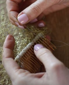 LOVE this tutorial for a handmade birdcage veil. Super easy to follow step by step directions!
