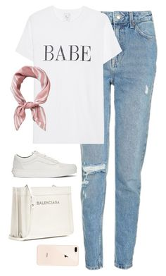 """""""Untitled #4543"""" by magsmccray on Polyvore featuring Topshop, Vans and Balenciaga"""