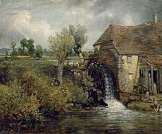 Parham's Mill, Gillingham, Dorset.  - John Constable