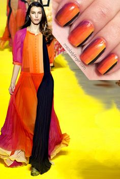 Fashion inspired nails by missladyfinger: Sonia Rykiel Spring '12 (love this one!!)