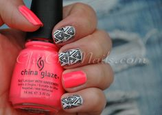 Sincerely Stephanie - China Glaze Flip-Flop Fantasy and OPI - My Boyfriend Scales Walls