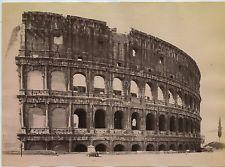 2 Photos Of Coliseum In Rome In c1880s