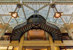 Rookery building, chicago, galería interior, Burnham and Root, 1886