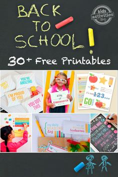 30 Great Back To School Free Printables (and counting) | MollyMooCrafts.com for #kidsactivitiesblog