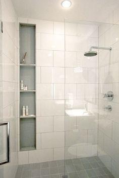40 Modern Small Master Bathroom Renovation Ideas - Page 32 of 40 Master Bathroom Shower, Shower Niche, Tiny House Bathroom, Bathroom Layout, Modern Bathroom Design, Bathroom Interior Design, Home Interior, Bathroom Ideas, Bathroom Designs