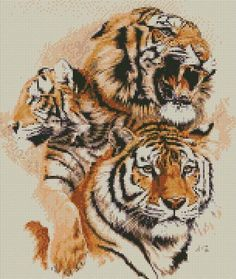 cross stitch kit siberian symmetry tiger - Folksy