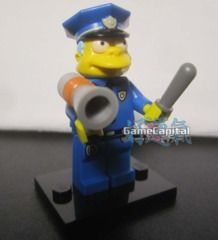 Chief Clancy Wiggum Lego minifigures The Simpsons Loose Figure www.thegamecapital.com #Lego #Minifigure #Legominifigures #Simpsons #TheSimpsons #LegoSimpsons