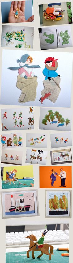 A cut out picture book by People Too's. Extremely fine!