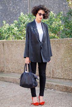 Acne Jacket and Silk Shirt