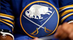 Buffalo Sabres Return to Royal, Unveil New Logo and Uniforms – SportsLogos.Net News New Helmet, Helmet Logo, Team Wear, Team S, 1970s Looks, Nhl Season, Buffalo Sabres, Blue Back, Gold Stripes