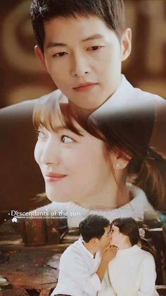 Descendants Of The Sun Korean Drama Series, Korean Drama Quotes, Songsong Couple, Best Couple, My Love Song, Love Songs, Doubles Song, Song Joong Ki Birthday, Running Man Korea