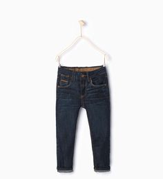 ZARA - NEW IN - Leather detail jeans