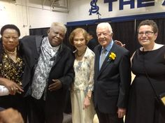 Patsy, Winfred, First Lady Rosalynn Carter, President Jimmy Carter and Vivian, in Americus, GA.
