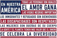 Poster - En Nuestra America | Syracuse Cultural Workers Create A Flag, What Makes America Great, Free Postcards, Respect Women, Disability Awareness, Play Gym, Social Issues, Need To Know, Planets