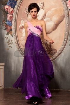 two-tone a-line floor length one-shoulder empire beaded pleated chiffon prom dress Dresses 2013, Party Dresses Online, Event Dresses, Prom Dresses, Bride Dresses, Long Dresses, Occasion Dresses, Wedding Dresses, Multi Coloured Evening Dresses