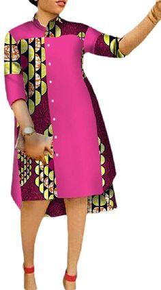 African Shirt Dress, Short African Dresses, Latest African Fashion Dresses, African Print Dresses, Plus Size Shirt Dress, African Inspired Clothing, Mode Kimono, African Print Dress Designs, African Attire