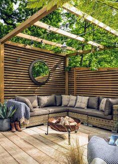69 ideas for pergola patio privacy Patio Pergola, Patio Privacy, Patio Seating, Diy Patio, Backyard Patio, Backyard Landscaping, Pergola Kits, Pergola Ideas, Privacy Screens
