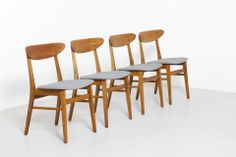 4 Farstrup Chairs - Smiley Grey | modestfurniture.commodestfurniture.com