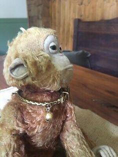 Vintage Stuffed Toy Monkey Ape Mohair   | eBay Toy Monkey, Stuffed Toy, Shabby Chic, Teddy Bear, Toys, Animals, Vintage, Ebay, Chic