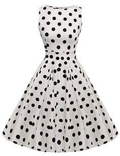 """(My review of ACEVOG Vintage 1950's Floral Spring Garden Party Picnic Dress Party Cocktail Dress) -  Brand:ACEVOG Material: Cotton Blend Measurements: Please check your measurements to make sure the item fits before ordering. 1. Use similar clothing to compare with the size. US S——-Bust 34.3''——Waist 28.1""""——-Length..."""