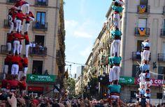 Castellers, Placa de Jaume.