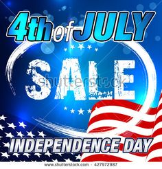 4th of July Sale Banner. #fourthofjuly #patriotic #independenceday #july4th  #4thofjuly