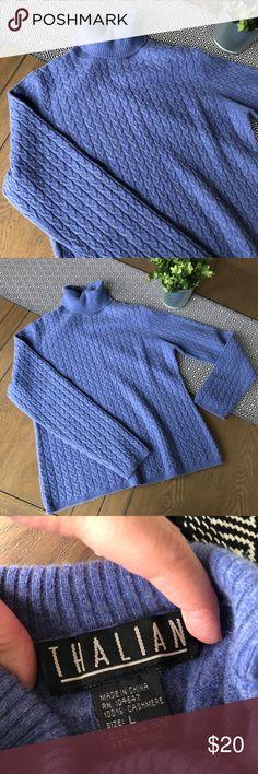 Cashmere Turtleneck 100% cashmere cable knit sweater Thalian Sweaters Cowl & Turtlenecks