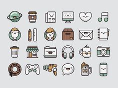 Pamoke: Free Icon Set http://drbl.in/ouEj #freebies #graphics #graphicdesign #icons #dribbble