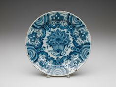 RISD Museum: Unknown artist, Dutch, Delft. Plate, 1725-1750. Earthenware with tin glaze and enamel. Diameter: 34.9 cm (13 3/4 inches). Gift of the Estate of Mrs. Gustav Radeke 31.112
