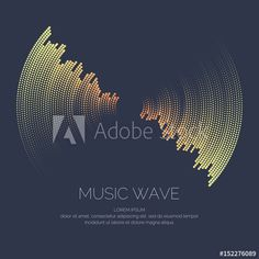 Vector poster of the sound wave.
