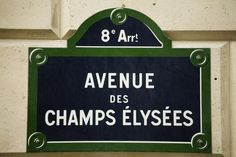 Avenue des Champs Elysees, France Street sign along Avenue des Champs Elysees.