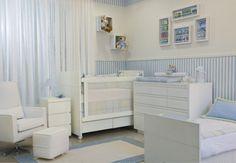 quarto de bebe azul e branco - Pesquisa Google
