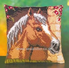 Shop online for Horse Cushion Front Chunky Cross Stitch Kit at sewandso.co.uk. Browse our great range of cross stitch and needlecraft products, in stock, with great prices and fast delivery.