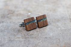Check out this item in my Etsy shop https://www.etsy.com/listing/287513995/wooden-cufflinks-square-spalted-walnut