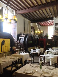"The perfect ""celler"" to have the most delightful meal. Can Amer in Inca, island of Mallorca."