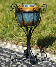 Another great find on #zulily! Black Scroll Fireside Stand #zulilyfinds