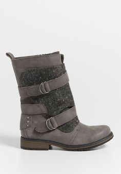 Sasha faux leather and knit wrapped boot (original price, $59.00) available at #Maurices