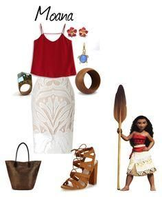 """Moana"" by babe-b8 ❤ liked on Polyvore featuring Disney, Lipsy, Chicwish, NOVICA, Kate Spade and disneybound"