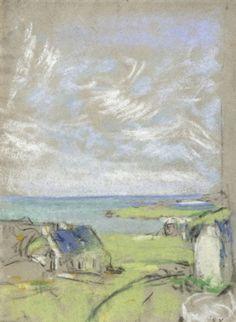 Édouard Vuillard / The Sky at Saint-Jacut, 1909. Drawing-Watercolor