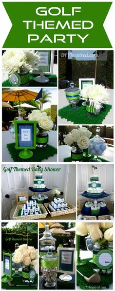 Party Frosting Golf Theme PartyId love to do this on the table