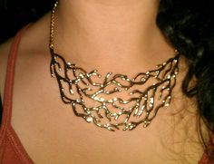 coral statement necklace @Chloe Allen and Isabel #jewelry http://ginamcclendon.chloeandisabel.com/
